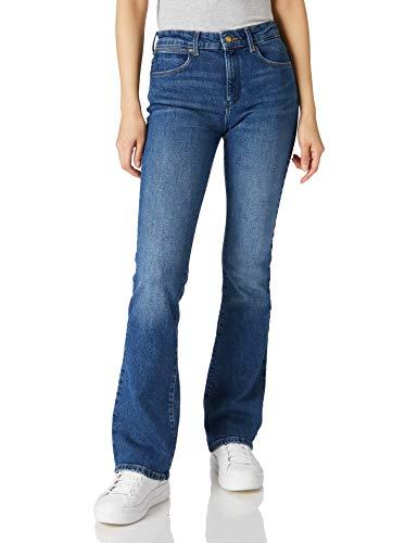 Wrangler Bootcut Jeans, Air Blue, 34W x 32L Donna