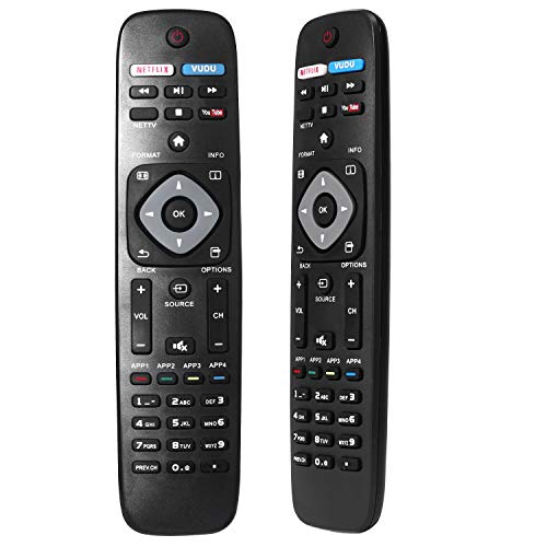 New Universal Remote Control for Philips TV Remote Replacement for LCD LED 4K UHD Smart TV NH500UP