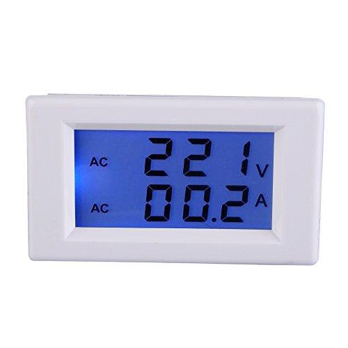 Amperemeter, Digital AC 100-300V 50A Amperemeter Voltmeter LCD Volt Ampere Panel Meter