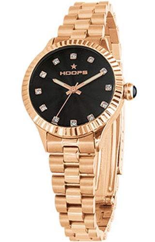 Orologio Donna Luxury Diamonds Rose Gold Nero 2569LD-RG07 - Hoops