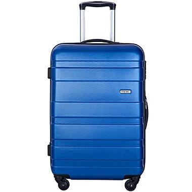 Flieks Graphic Print Luggage Set 3 Piece ABS + PC Spinner Travel Suitcase (London.)