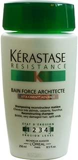 Kerastase Resistance Bain Force Architecte Shampoo 8.50 oz (Pack of 3)