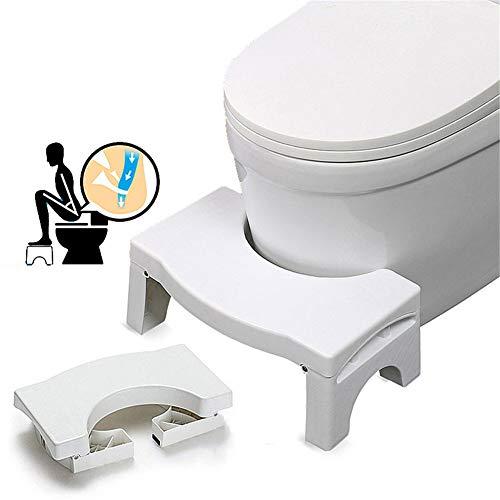 Opvouwbare toiletkruk, antislip toiletbril voetenbank, geschikt voor alle toiletten, gehurkt toilet opstapje, helpt constipatie te verlichten, gemakkelijke opslag