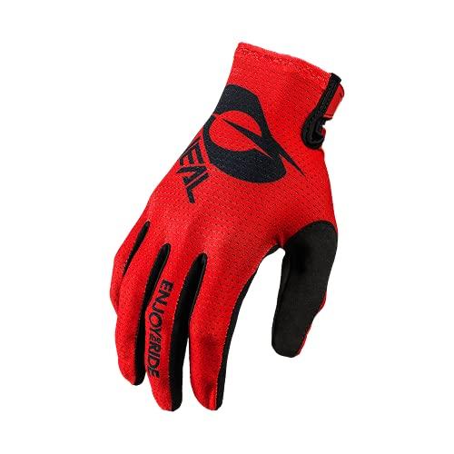 O'NEAL | Fahrrad- & Motocross-Handschuhe | MX MTB DH FR Downhill Freeride | Langlebige, Flexible Materialien, belüftete Handoberseite | Matrix Glove | Erwachsene | Schwarz Rot | Größe M