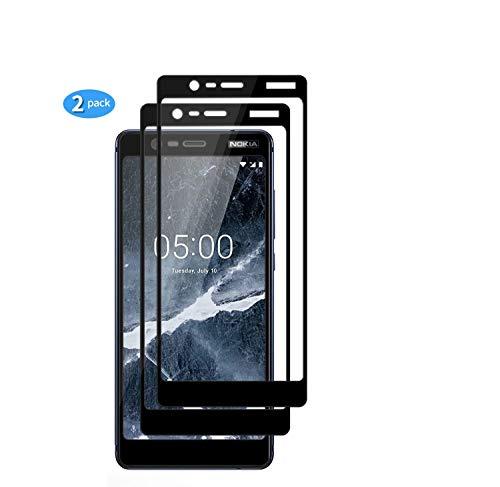 yueer [2 Pack Panzerglas Schutzfolie für Nokia 3.1/Nokia 3 2018,[Anti- Kratzer] [Ultra Clear] Panzerglasfolie Bildschirmschutzfolie Folie für Nokia 3.1/Nokia 3 2018.