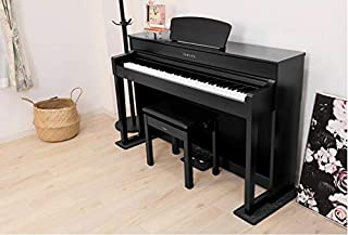 【 3Points Mat 】 電子ピアノ 専用マット 3PM-1 3点敷き新タイプ 防音/防振/防傷 (ブラック/BK)