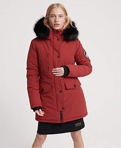 Superdry Damen Ashley Everest Parka rot XS