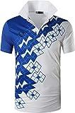 jeansian Camiseta Deportiva de Manga Corta para Hombre Polo Poloshirt tee Shirt Tshirt T-Shirt Bolos Dry Fit Golf Tenis LSL224 White S