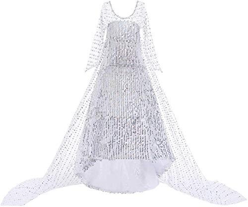 EMIN ELSA Kostüm Eiskönigin 2 ELSA Kleid Mädchen Kinder Mädchen Prinzessin Königin ELSA 2 Kostüm Weihnachten Verkleidung