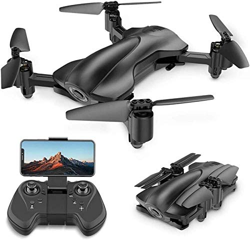 UYZ Drones GPS WiFi FPV con cámara para Adultos, Drone cuadricóptero RC Plegable con cámara HD 1080P para Principiantes, retención de altitud, Control de Gravedad, Modo de Seguimiento, Modo sin
