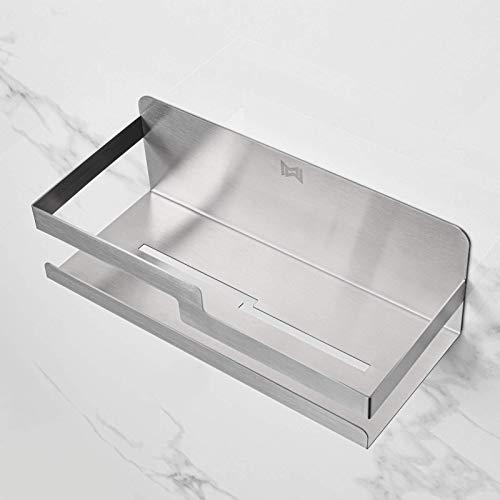 MW® Etagere salle de bain sans percage | Adhésive | 100% Inox | Etagere à épices | Porte éponge | Etagere douche | Rangement douche| Accessoire salle de bain | Panier salle de bain