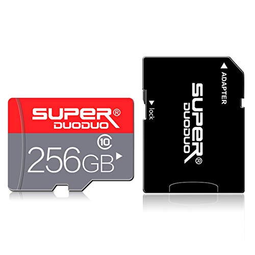 256GB Micro SD Karte mit Adapter (Class 10 High Speed), Memory MicroSD Karten...