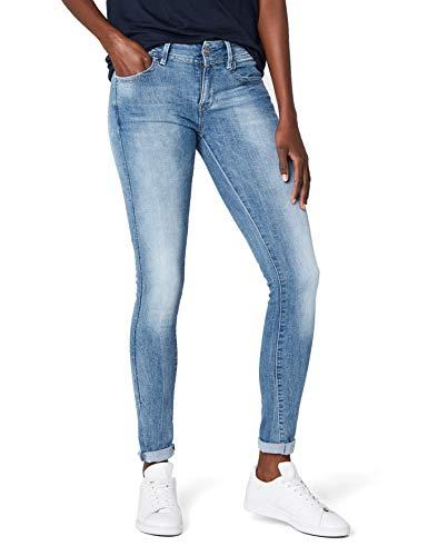 G-STAR RAW Damen Lynn Mid Skinny Jeans, Blau (Blue Lt Aged Denim), 27W / 32L