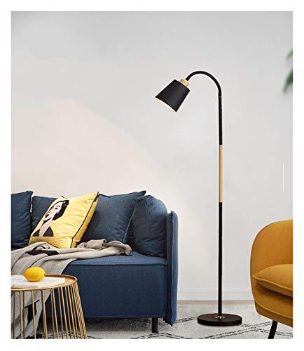 Hzdmfgs Lámpara de Piso Negro Blanco Lámpara de pie Moderna nórdica Venta Grande lámparas lámpara de pie Lámpara de pie de la Esquina Simple luz de la Esquina de la lámpara Apartamento