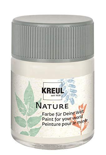 Kreul 49421 - Nature Schneekristall im 50 ml Glas, wasserbasierte Farbe, aus nachhaltigen, natürlichen Rohstoffen, cremig, schnelltrocknend und lichtecht, für zahlreiche Untergründe
