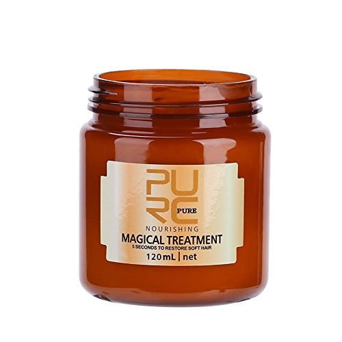 Magical Hair Treatment Mask, Advanced Molecular Hair Roots Treatment Professtional Hair Conditioner, 5 Seconds to Restore Soft, Deep Conditioner Suitable for Dry & Damaged Hair 120ml