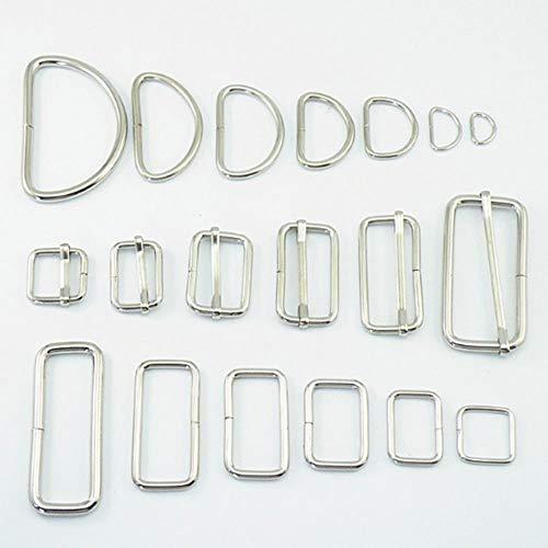 Viner 10 stks veel metalen verstelbare rechthoek d ring riem vierkante gesp voor rugzakken schoenen tas kat halsband gespen diy accessoires, vierkante gesp, 20mm