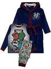 HARRY POTTER Bata Pijamas para Niños Hogwarts Negro 11-12 Años