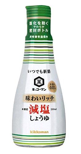 キッコーマン いつでも新鮮 味わいリッチ 減塩しょうゆ ボトル00ml [2651]
