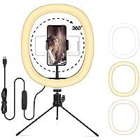 FDTEK Selfie Ring Light with Tripod Stand