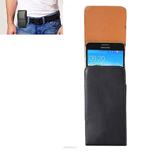Estuches de cuero de teléfono Funda de cuero de flip de vertical de textura de caballo loco de 6,3 pulgadas / bolso de cintura con tablilla trasera para Samsung Galaxy Mega 6.3 y Mega 2 / G750F