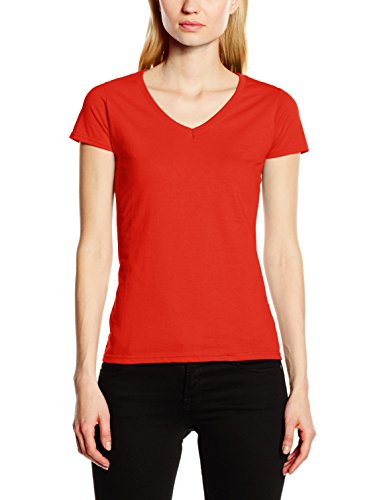 Fruit of the Loom SS045M Camiseta, Rojo (Red), 44 (Talla del Fabricante: X-Large) para Mujer