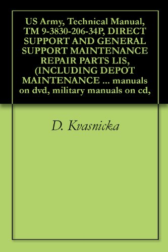 US Army, Technical Manual, TM 9-3830-206-34P, DIRECT SUPPORT AND GENERAL SUPPORT MAINTENANCE REPAIR PARTS LIS, (INCLUDING DEPOT MAINTENANCE ALLOWANCES), ... military manuals on cd, (English Edition)