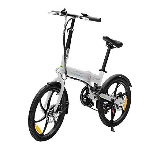 SMARTGYRO Ebike Crosscity White - Bicicleta Eléctrica Urbana, Ruedas de...