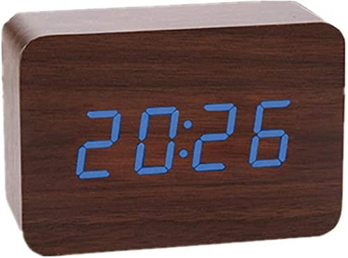 Reloj Despertador Digital Reloj de Pared Digital led Reloj de Dormitorio Relojes Digitales luz Reloj de baño Amanecer Inteligente Blanco 1