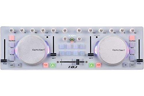 Icon I de DJ/Mini USB MIDI DJ Controlador con Touch Sensitive Scratch...