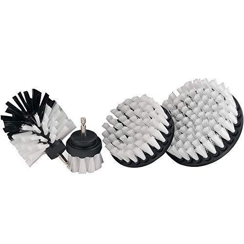 Exanko Herramienta de Limpieza con Cepillo de Taladro de 4 Piezas para Limpieza, Fregado y Limpieza de AutomóViles, Cepillo de BaaEra Cepillo de Azulejos Cepillo para Fregar