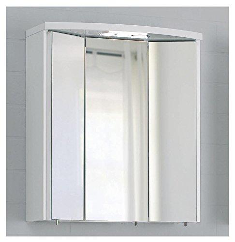 Pelipal SMALL/MINIMO - 3D Spiegelschrank 55 cm, 3-türig, weiß, EEK: A (Spektrum A - A)