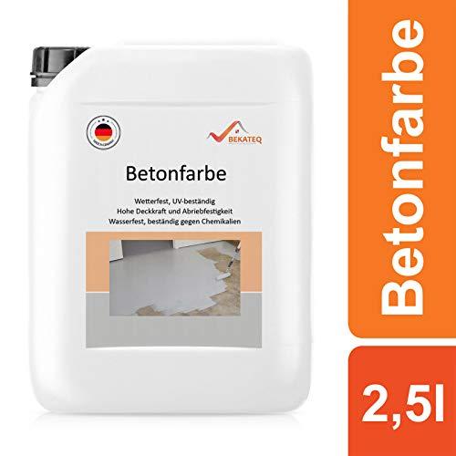 BEKATEQ BE-700 Bodenbeschichtung, 2,5l Weiss, Betonfarbe seidenmatt, für innen und außen