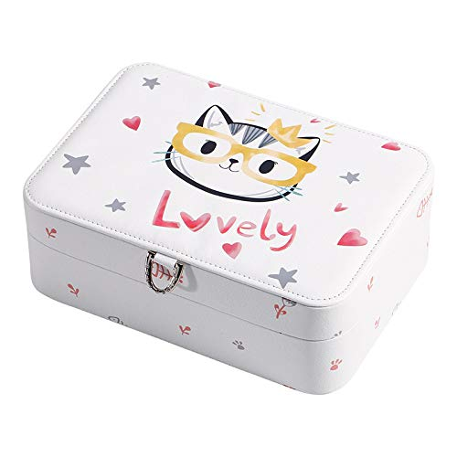 Caja de joyería impresa de dibujos animados Caja de joyería masiva linda Cajas de almacenamiento Caja de diseño de joyería de moda