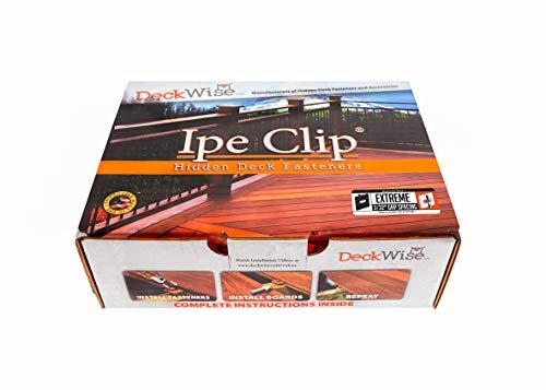 DeckWise (Black) Ipe Clip Extreme Hidden Deck Fasteners, 3/32