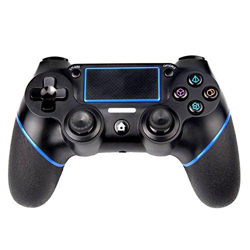 Sades - Manette de jeu sans fil PS4 Controller pour Playstation 4 avec double vibration, fil USB inclus