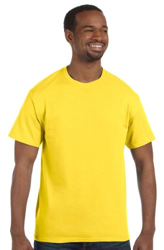 Hanes 5250 Hanes TAGLESS T-Shirt, Yellow, Size - 2XL (Unit Per Pack 1)