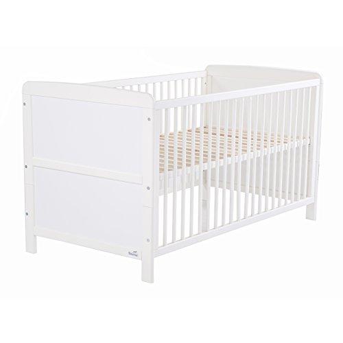 Geuther - Kinderbett Pascal, umbaubar zum Jugendbett, höhenverstellbar, Schlupfsprossen, weiß