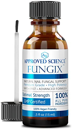 Fungix - Nail Treatment for Toenails & Fingernails - With Tea Tree Oil, Undecylenic Acid & Other Essential Oils - Stops and Prevents Nail Fungus, 1 Vegan Friendly Bottle