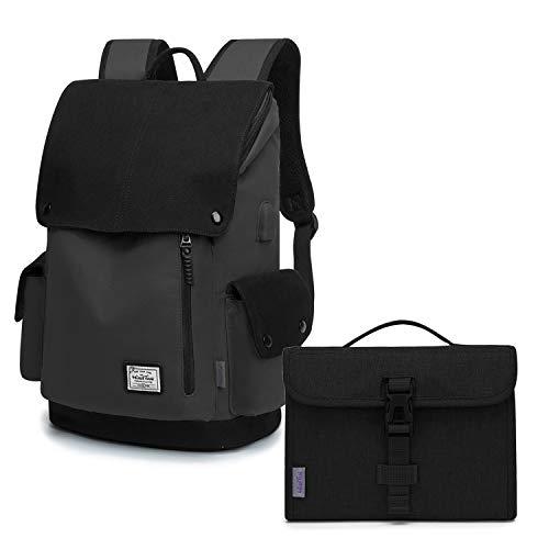 WindTook Zaino Porta PC 15.6 Pollici Zaino da Donna e Uomo Casual Backpack Laptop Zaino Unisex Adulto per Universitá Travel Leisure Lavoro Combinazione di Pacchetti