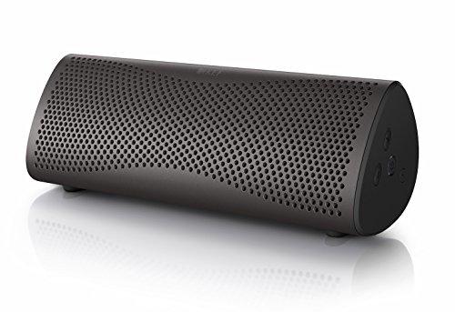 KEF MUO - Bester Bluetooth Lautsprecher - Grau | Tragbarer Lautsprecher für unterwegs | Außenlautsprecher | Best bluetooth speaker für PC und Laptop | mit langer Batterie und Akkulaufzeit