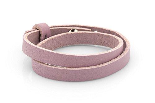 Lederarmband - rosa, 43cm Schmuck-Armband für Schiebeperlen