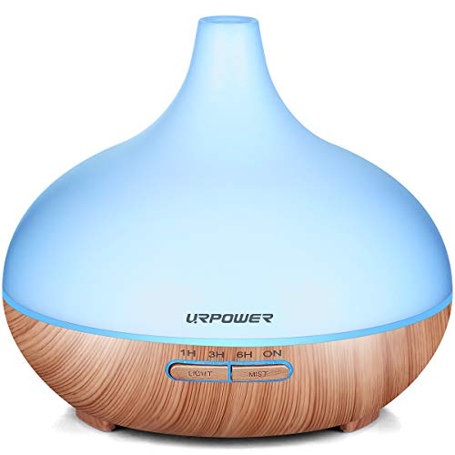Aromatherapy Essential Oil Diffuser, URPOWER 300ml Wood Grain Ultrasonic Cool Mist...