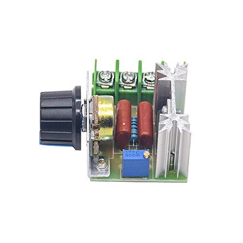 L-Yune,bolt Módulo regulador de Voltaje del Controlador de Velocidad del Motor 1pc AC 220V 2000W SCR regulador de Voltaje de atenuación atenuadores termostato electrónico (tamaño : AC 220V)