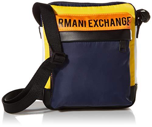 ARMANI EXCHANGE Crossbody Bag, Borsa da Cross-Body Uomo, Multicolore, Taglia Unica