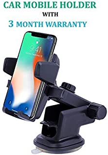 ASUSE 360 Degree Rotating Expandable Touch Frame Car Mount/Mobile Holder (Black)