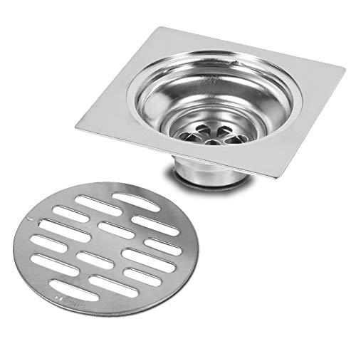 Yosoo Dick Edelstahl Quadrat Anti-Geruch Badezimmer Boden Abfluss Abdeckung Abfall Tor Duschablauf (Style : #2)