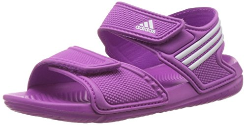 adidas Akwah 9, Unisex-Kinder Knöchelriemchen Sandalen, Pink (Flash Pink S15/Ftwr White/Flash Pink S15), 35 EU (2.5 UK)