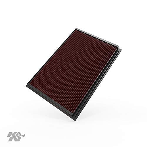 K&N 33-2209 - Filtro de Aire Coche, Lavable y Reutilizable, 294 x 265 x 44 mm
