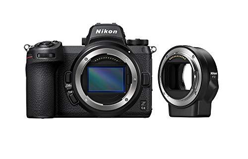 Nikon Z 6II Spiegellose Vollformat-Kamera mit Nikon FTZ-Adapter (24,5 MP, 14 Bilder pro Sekunde, Hybrid-AF, 2 EXPEED-Prozessoren, doppeltes Speicherkartenfach, 4K UHD Video mit 10-Bit-HDMI-Ausgabe)